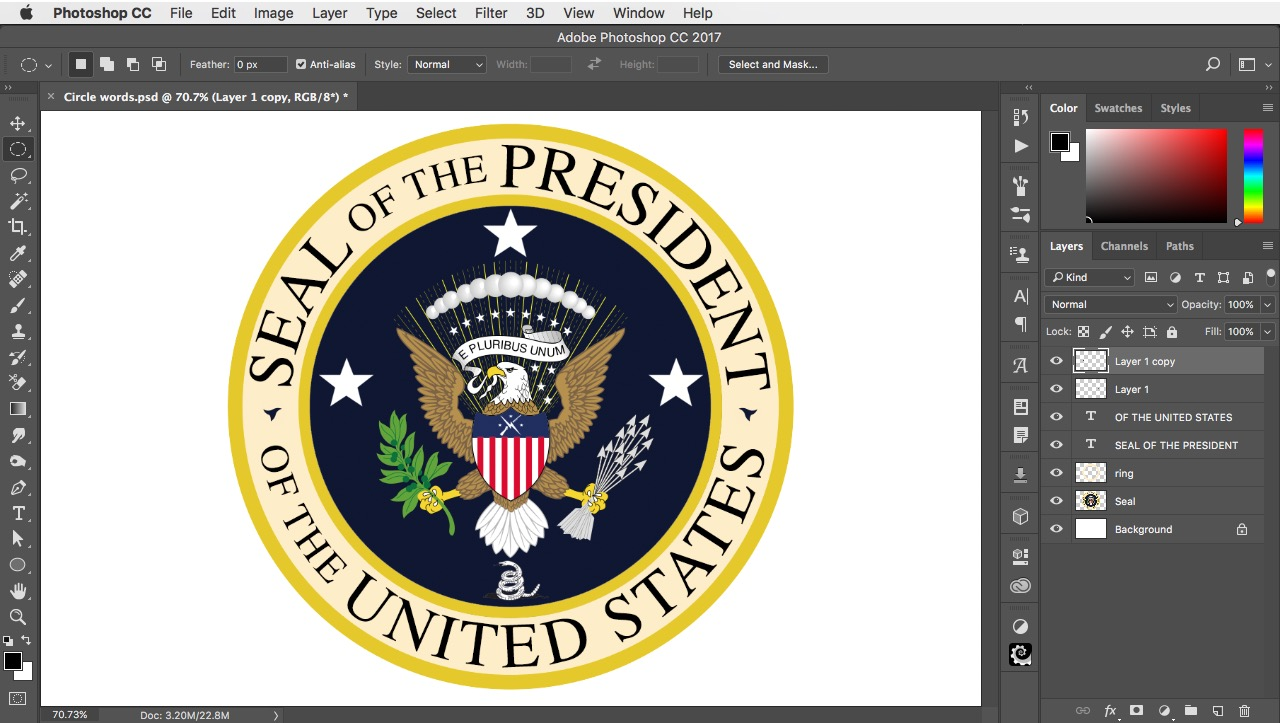How to create text in a circle 2 minute photoshop biocorpaavc Images