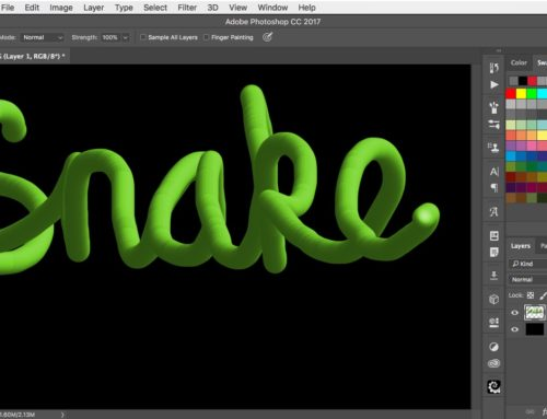 How to draw 3D snake lettering