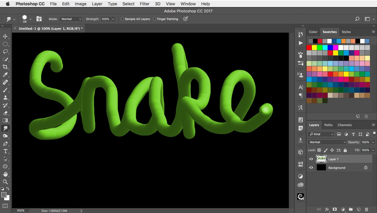 How to change depth of focus with an iphone and photoshop cc 2018 how to draw 3d snake lettering baditri Image collections