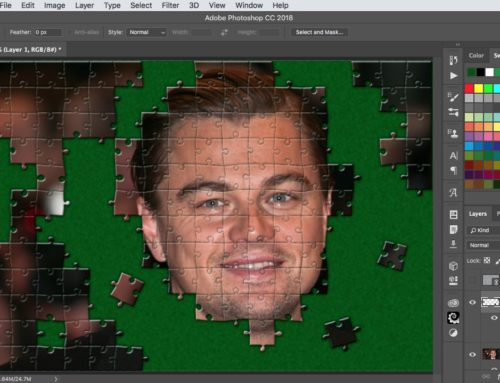 How to turn a photo into a jigsaw