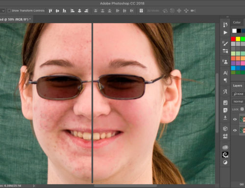 How to clean up skin in Photoshop